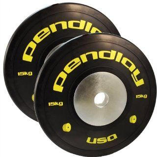 33 lb Pendlay Elite Black Bumper Plates in Colored Ink