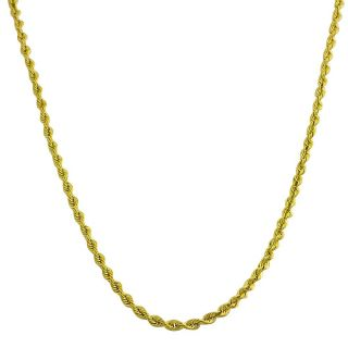 10k Yellow Gold 18 inch Diamond cut Rope Necklace