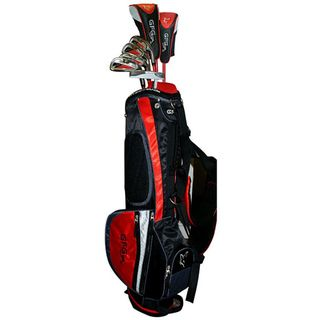 Gray Fox Golf Junior Combo Golf Set with Red and Black Stand Bag