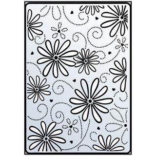 Crafts Too Embossing Folder 4X6 Daisy & Swirl