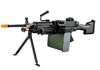 A&K M249 MKII SAW M4 Airsoft Metal Electric Machine Gun