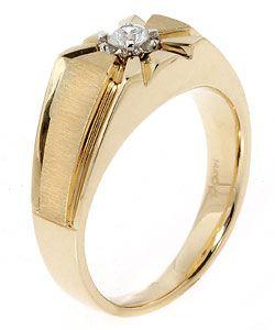 14 kt. Yellow Gold Mens Diamond Starburst Ring (.25 TW)