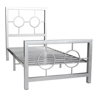 Circle Design Twin size Metal Bed Frame