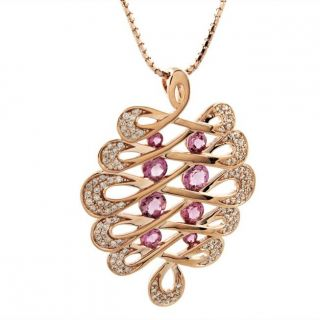 Beverly Hills Charm 14k Rose Gold Pink Tourmaline and 3/5ct TDW