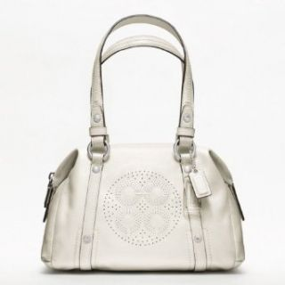Coach Audrey Patent Leather Small Bag   F47768 (SV/ Ivory