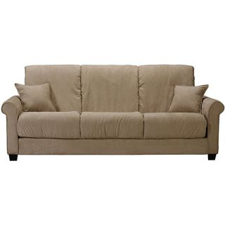 Lee Khaki Microfiber Futon Sofa Bed