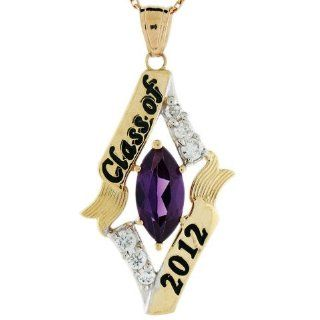 14k Gold June Birthstone Class of 2012 Graduation Charm