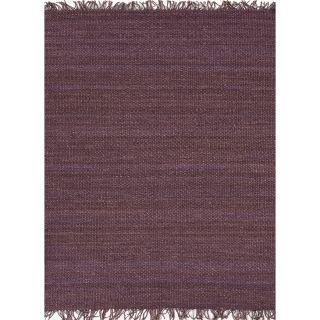 Handmade Flat weave Solid Pink/ Purple Hemp/ Jute Rug (2 x 3) Today