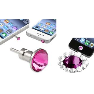 Pink Dust Cap/ Purple Button Sticker for Apple® iPhone/ iPad/ iPod
