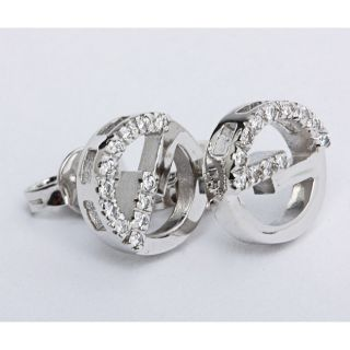 Gucci 18k White Gold 1/10ct TDW Diamond Earrings