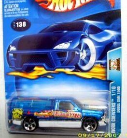 Hot Wheels 2003 138 Work Crewsers Blue Dodge Ram 1500