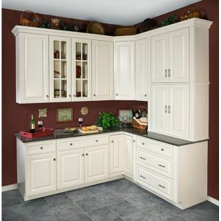 Antique White 36(w) x 12(h) in. Wall Kitchen Cabinet Today $357.43