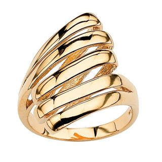 18k gold over silver multi row dome ring msrp $ 158 00 sale $ 44 09