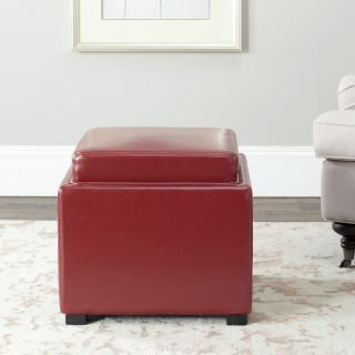 Bobbi Tray Red Bicast Leather Storage Ottoman Today $146.99 5.0 (21
