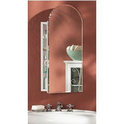 Broan Nuone 52WH244PA 1/2 Inch Mero Arch Beveled Mirror