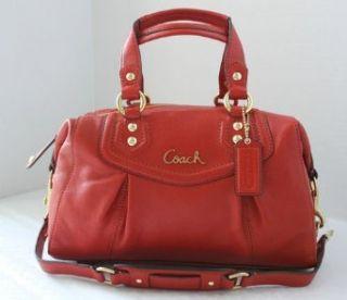 Coach Ashley Leather Satchel Hanbag Purse Handbag