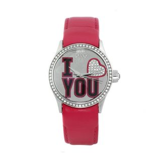 Dolce & Gabbana Womens I Love You Pink Leather Watch