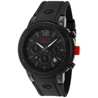Red Line Mens Mission Black Silicone Watch