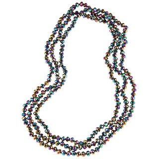 Mystic Fire Crystal Bead Necklace (8 mm)