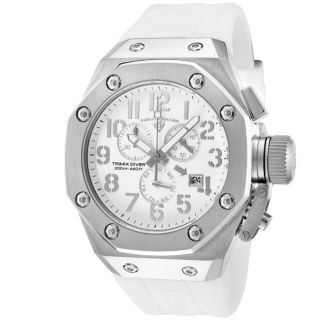 Swiss Legend Mens Trimix Diver White Silicone Watch