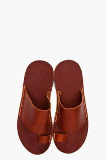 Maison Martin Margiela Brown Leather Sandals for men