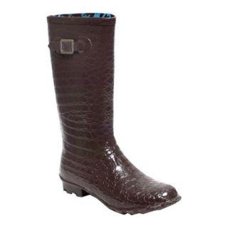 Womens RainBOPS Croc Style Rain Boot Chocolate Kiss