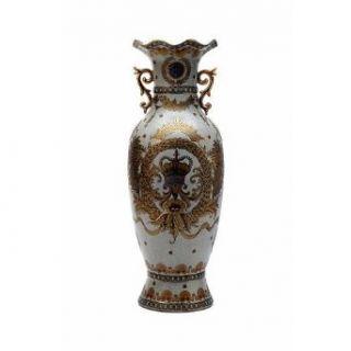 Connie Schaevitz Royal Crown Vase with Gold Flute Details