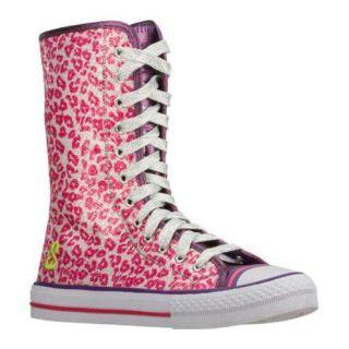 Girls Skechers Shuffles Safari Cruisers White/Pink