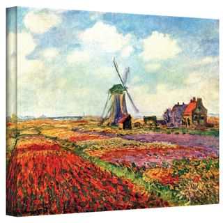Claude Monet Windmill Wrapped Canvas Art