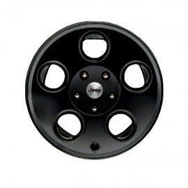 2007 2012 Jeep Wrangler Mopar Wheel, 17x8.5 Classic 5 Hole Black