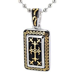 Stainless Steel Goldtone Gothic Cross Necklace