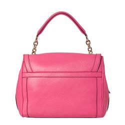 Dolce & Gabbana Pink Leather Lock and Key Satchel
