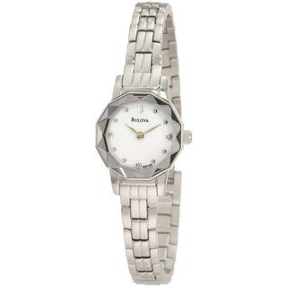 Bulova Womens Dress Stainless Steel/ Mother of Pearl Watch