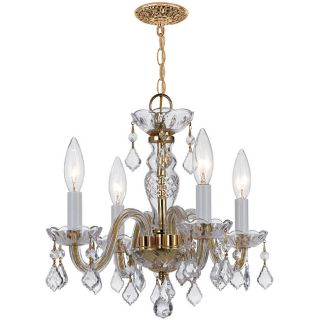Crystal 4 light Polished Brass Chandelier Today $225.00 5.0 (1