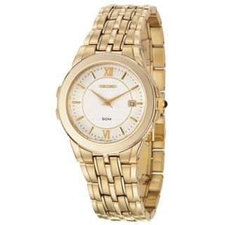 Seiko Mens Le Grand Sport Yellow Goldplated Stainless Steel Quartz