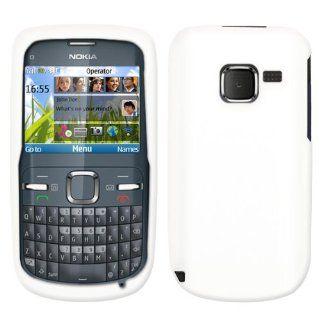 Weiß Silikon Hülle Schutzhülle Tasche Case für Nokia C3: