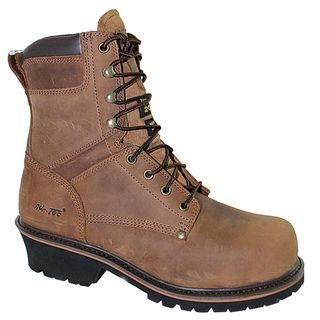 AdTec Mens Super Logger 9 inch Brown Waterproof Steel toed Boots