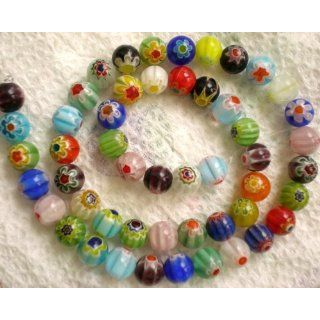 Beads RAINBOW GLASS BEADS MIX 8mm 140 Beads 100 Grams