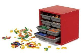 LEGO Aufbewahrungs  und Sortierbox aus Holz mit Schubfächern ca