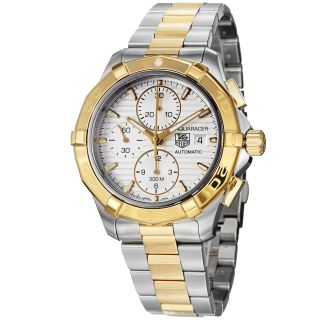 Tag Heuer Mens Aquaracer Two Tone Automatic Chronograph Watch