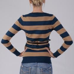 Ci Sono by Journee Juniors Striped Belted Cardigan