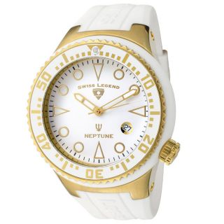 Swiss Legend Mens Neptune White Silicone Watch