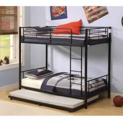 Black Steel Roll out Twin Trundle Bed Frame