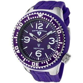 Swiss Legend Mens Neptune Purple Silicone Watch