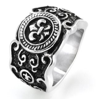 West Coast Jewelry Stainless Steel Fl De Lis Cast Ring