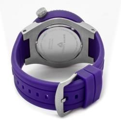 Swiss Legend Mens Neptune Purple Silicone Watch