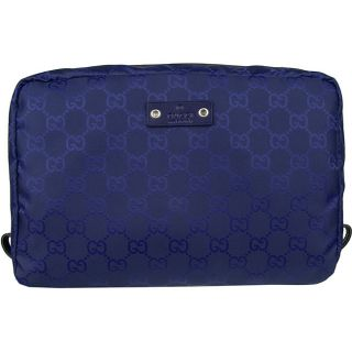 Gucci Royal Blue GG Travel Case