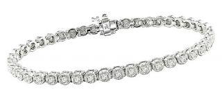 10k White Gold 1ct Diamond Tennis Bracelet (H I, I1 I2)