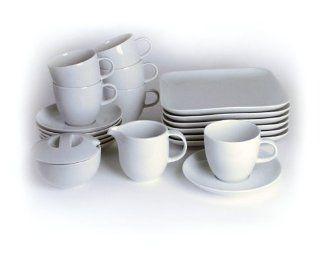 Schirnding Porzellan Serie Tutto Weiss Kaffeeservice 20tlg. Made by