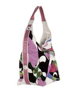 Emilio Pucci Oversized Terry Cloth Shoulder Bag